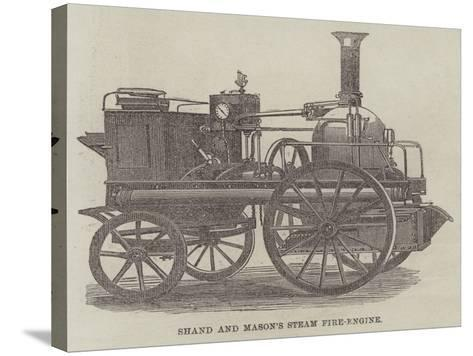 Shand and Mason's Steam Fire-Engine--Stretched Canvas Print