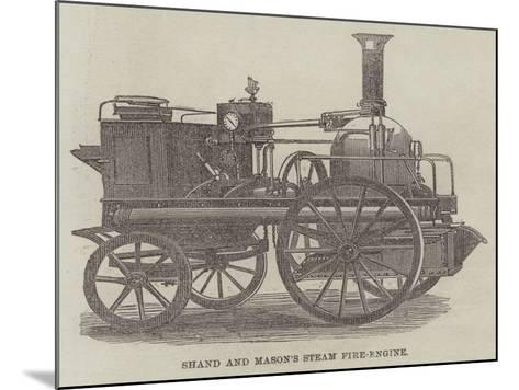 Shand and Mason's Steam Fire-Engine--Mounted Giclee Print