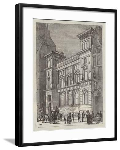Branch Bank of England, Fleet Street--Framed Art Print