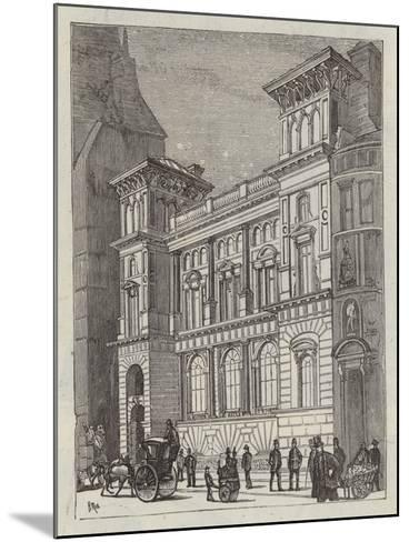 Branch Bank of England, Fleet Street--Mounted Giclee Print