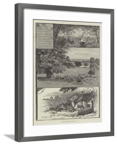 Rambling Sketches, Richmond Park--Framed Art Print