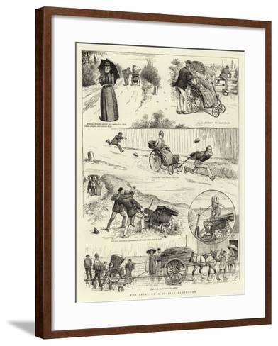The Story of a Seaside Elopement--Framed Art Print