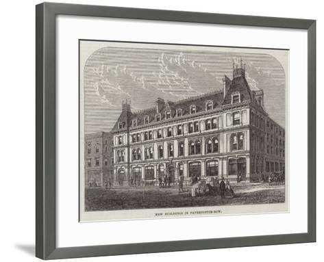 New Buildings in Paternoster-Row--Framed Art Print