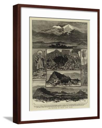The Eruption of Mount Etna, Sicily--Framed Art Print
