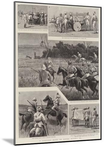 A Leopard Hunt in Upper Burma, II--Mounted Giclee Print
