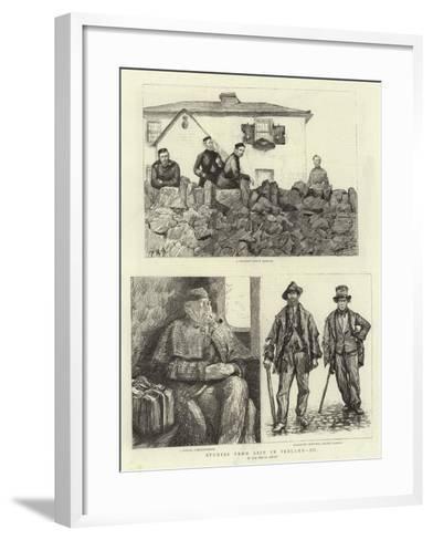 Studies from Life in Ireland, III--Framed Art Print