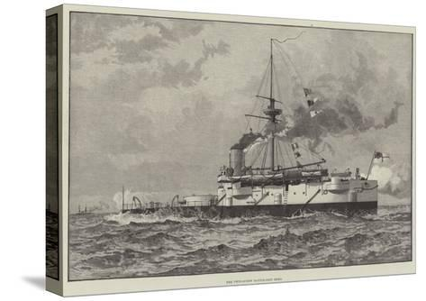The Twin-Screw Battle-Ship Hero--Stretched Canvas Print
