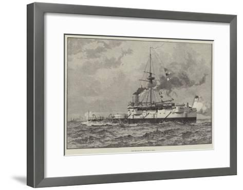 The Twin-Screw Battle-Ship Hero--Framed Art Print