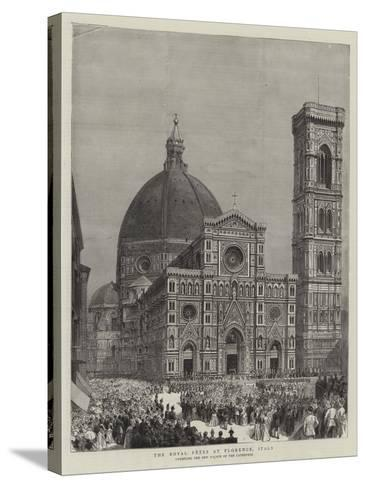 The Royal Fetes at Florence, Italy--Stretched Canvas Print