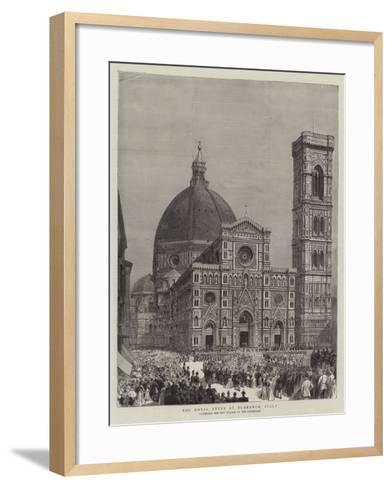 The Royal Fetes at Florence, Italy--Framed Art Print