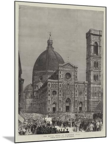 The Royal Fetes at Florence, Italy--Mounted Giclee Print