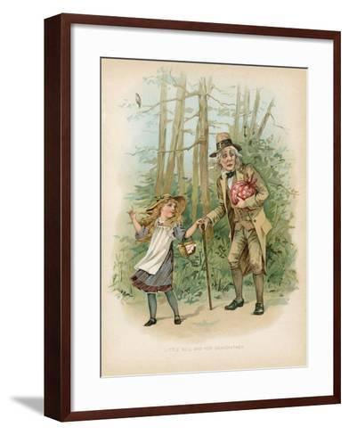Little Nell and Her Grandfather--Framed Art Print