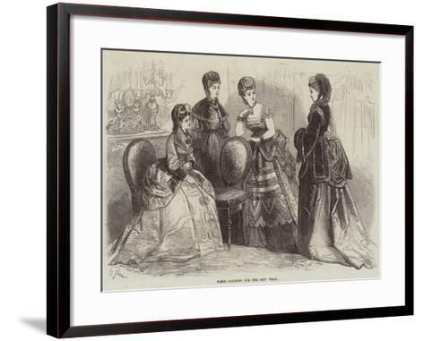 Paris Fashions for the New Year--Framed Art Print