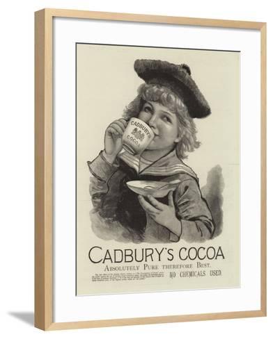Advertisement, Cadbury's Cocoa--Framed Art Print