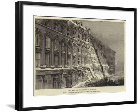 Fire and Ice in Montreal, Canada--Framed Art Print