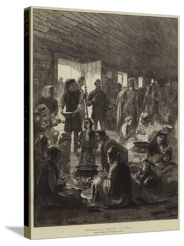 Herzegovinian Refugees at Ragusa--Stretched Canvas Print