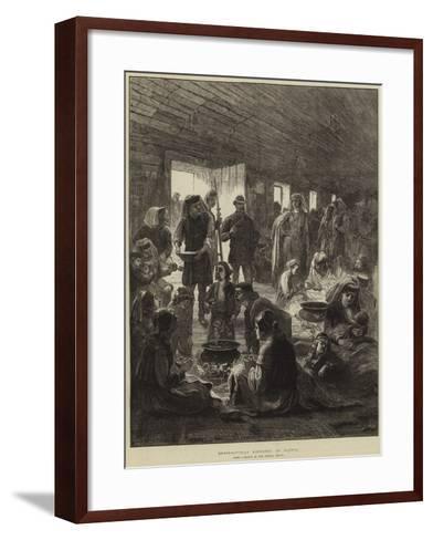 Herzegovinian Refugees at Ragusa--Framed Art Print