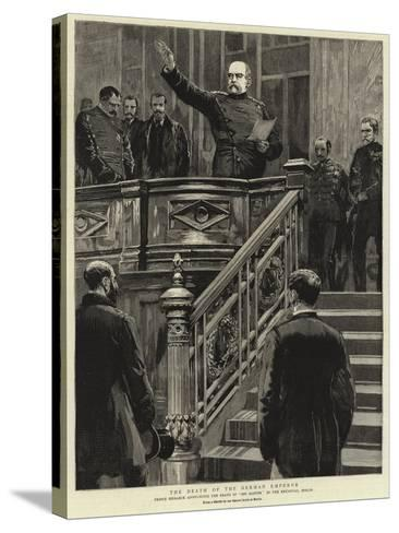 The Death of the German Emperor--Stretched Canvas Print