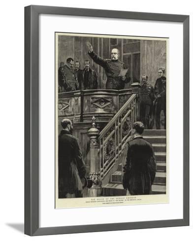 The Death of the German Emperor--Framed Art Print