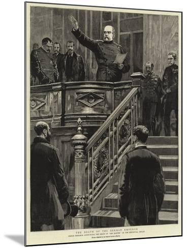 The Death of the German Emperor--Mounted Giclee Print