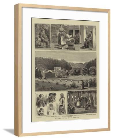 Sketches at Marienbad, Bohemia--Framed Art Print