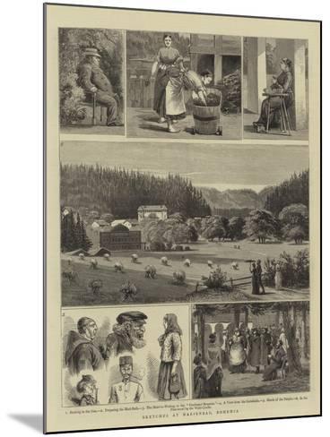 Sketches at Marienbad, Bohemia--Mounted Giclee Print