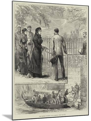 The Empress Eugenie at St Helena--Mounted Giclee Print