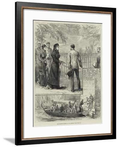 The Empress Eugenie at St Helena--Framed Art Print