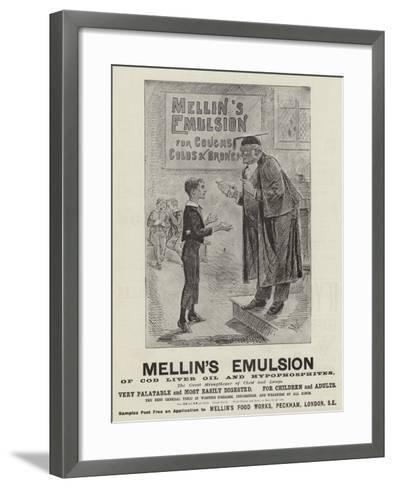 Advertisement, Mellin's Emulsion--Framed Art Print