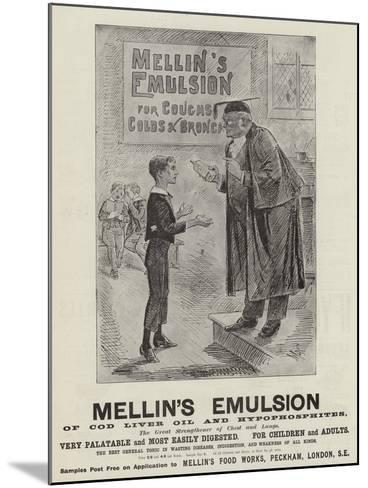 Advertisement, Mellin's Emulsion--Mounted Giclee Print