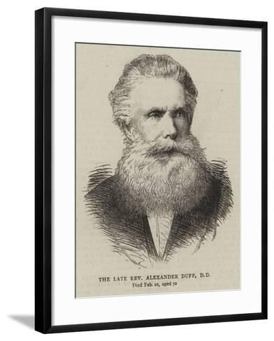 The Late Reverend Alexander Duff--Framed Art Print