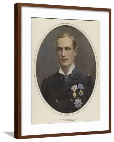 H R H Prince Charles of Denmark--Framed Art Print