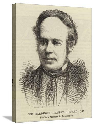Sir Hardinge Stanley Giffard, QC--Stretched Canvas Print