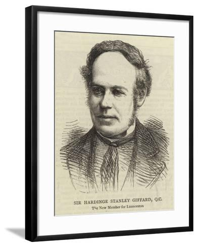 Sir Hardinge Stanley Giffard, QC--Framed Art Print