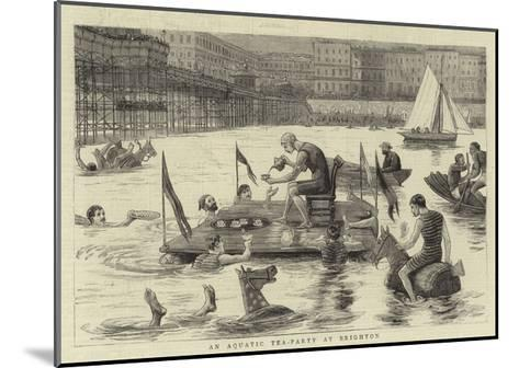 An Aquatic Tea-Party at Brighton--Mounted Giclee Print