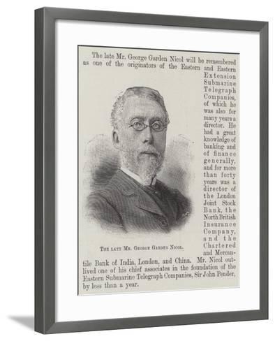 The Late Mr George Garden Nicol--Framed Art Print