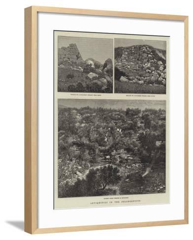 Antiquities in the Peloponnesus--Framed Art Print