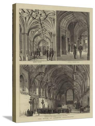 The House of Commons Illustrated--Stretched Canvas Print