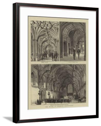The House of Commons Illustrated--Framed Art Print