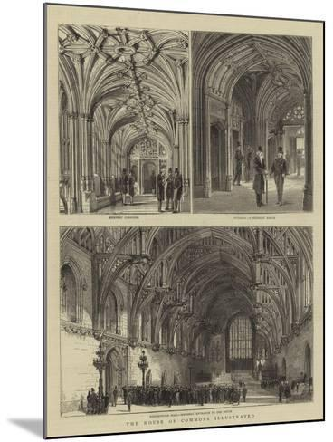 The House of Commons Illustrated--Mounted Giclee Print