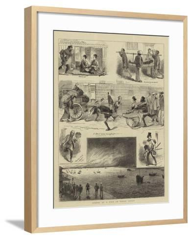 Scenes at a Fire at Tokio, Japan--Framed Art Print