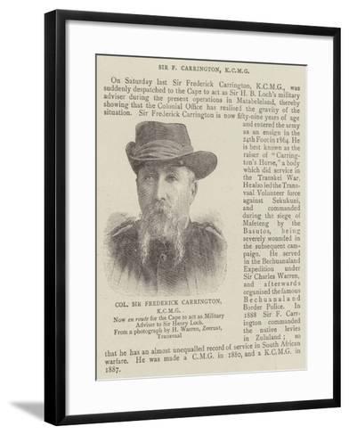 Colonel Sir Frederick Carrington--Framed Art Print