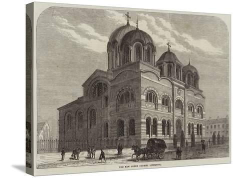 The New Greek Church, Liverpool--Stretched Canvas Print