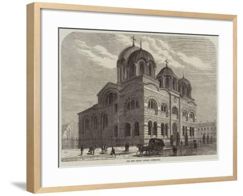 The New Greek Church, Liverpool--Framed Art Print