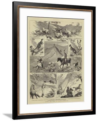 Sport and Work in South Australia--Framed Art Print