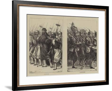 Irregulars of the French Troops--Framed Art Print