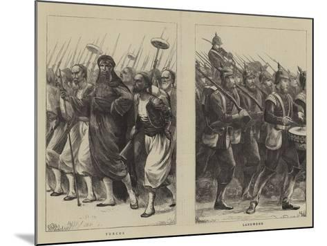 Irregulars of the French Troops--Mounted Giclee Print