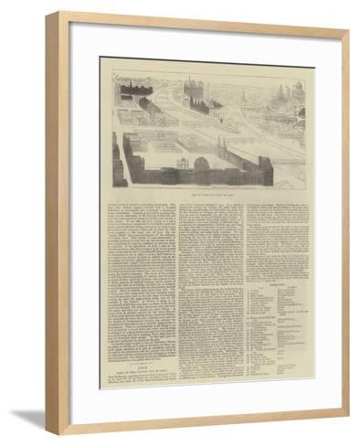 Key to Bird's Eye View of Paris--Framed Art Print