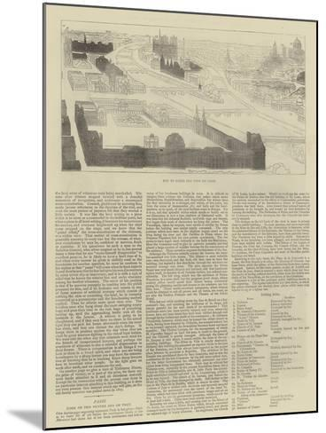Key to Bird's Eye View of Paris--Mounted Giclee Print