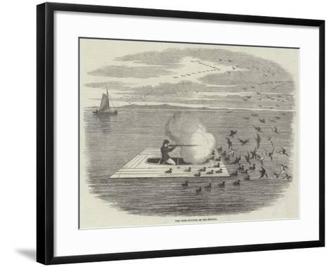 Wild Duck Shooting on the Potomac--Framed Art Print